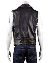 DSquared² Black Leather Vest for men