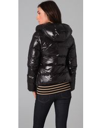 Duvetica - Black Thia Hooded, Quilted Short Down Jacket - Lyst