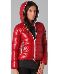 Duvetica   Red Thia Packable Down Puffer Coat   Lyst