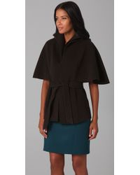 Elie Tahari | Brown Roxy Cape | Lyst
