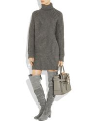 Michael Kors | Gray Suede Over-the-knee Boots | Lyst