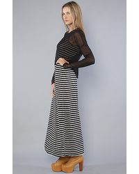 MINKPINK Black The Dont Mesh with Me Maxi Dress
