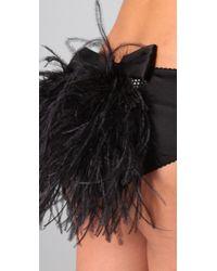 Myla - Black Darcey Feather Knickers - Lyst