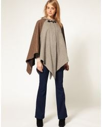 ASOS Collection - Brown Asos Cape in Heritage Check - Lyst
