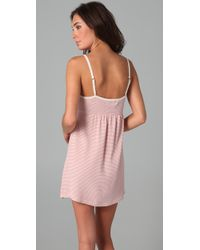 Juicy Couture - Pink Striped Thermal Nightie - Lyst