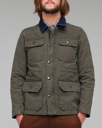 Obey | Green Miner Canvas Jacket for Men | Lyst