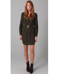 Plastic Island - Green Harlow Belted Dress - Lyst