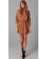 Plastic Island | Brown Goldie Shirtdress | Lyst
