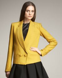 Proenza Schouler Yellow Shawl-collar Jacket