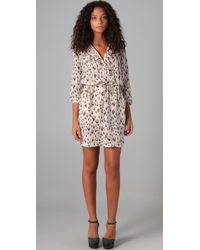 Rebecca Taylor | Natural Leopard Print Ruffle Dress | Lyst