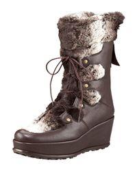 Stuart Weitzman | Brown Slamdunk Leather Boot | Lyst