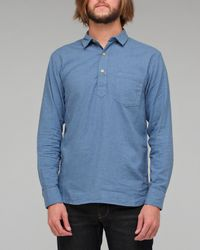 YMC | Blue Pullover Chambray Shirt for Men | Lyst