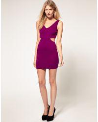 ASOS Collection - Black Asos Petite Exclusive Mini Dress with Cross Back Cut Out Side - Lyst