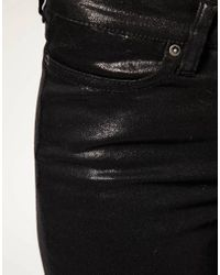 ASOS Collection | Asos Wet Look Black Skinny Jeans | Lyst