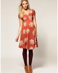 ASOS Collection - Multicolor Asos Maternity 40s Printed Tea Dress - Lyst