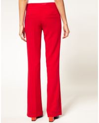 ASOS Collection | Red Asos Petite Exclusive Bootcut Trousers | Lyst
