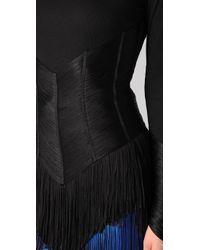 Jen Kao - Black Long Sleeve Fringe Top - Lyst