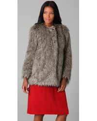 Marc By Marc Jacobs | Natural Rickie Faux Fur Jacket | Lyst