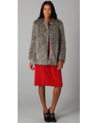 Marc By Marc Jacobs - Brown Rickie Faux Fur Jacket - Lyst