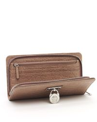 MICHAEL Michael Kors | Natural Hamilton Large Zip Around Continental Wallet, Dusk | Lyst