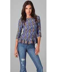 Pray For Mother Nature - Blue Rio Ruffled Top - Lyst