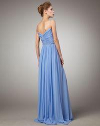 Robert Rodriguez Blue Phoebe Chiffon Gown, Hydrangea