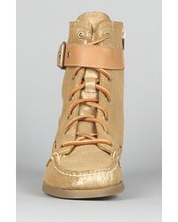 Sperry Top-Sider - Metallic The Starpoint Boot in Gold Sparkle Suede for Men - Lyst