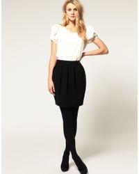 ASOS Collection | Black Asos Bell Mini Skirt | Lyst