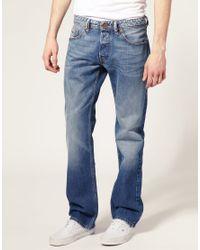 DIESEL | Blue Diesel Larkee 73p Straight Jeans for Men | Lyst