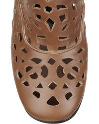 Marni | Brown Laser-cut Leather Calf Boots | Lyst