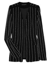 Alexander Wang Black Pearl-embellished Velvet Jacket