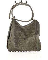 Alexander Wang | Green Angela Textured-leather Bag | Lyst