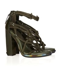 Alexander Wang - Green Tempest Knotted Suede Sandals - Lyst
