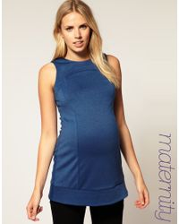 ASOS Collection | Blue Asos Maternity Twinset Tunic Top | Lyst