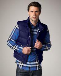 Burberry Brit Blue Puffer Vest for men