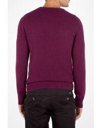 Burberry   Deep Purple Cashmere Crew Knit for Men   Lyst