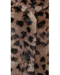 Dallin Chase Multicolor Big Cat Fur Jacket
