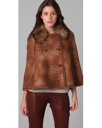 Dallin Chase Brown Campbell Shearling Cape
