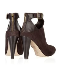 DKNY Brown Marion Suede and Leather Ankle Boots