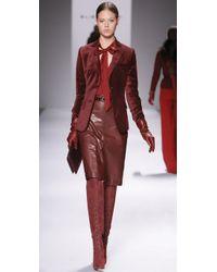 Elie Tahari | Red Rochelle Blouse | Lyst