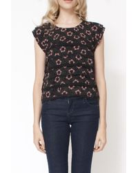 Free People | Black The Printed Paper Hearts Crop Top | Lyst