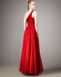 Halston | Jerry One-shoulder Dress, Red | Lyst