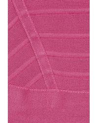Hervé Léger Pink Bandage Dress