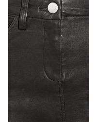 IRO - Black Svevalia Stretch-leather Mini Skirt - Lyst