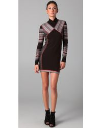 Matthew Williamson | Brown Inuit Jacquard Panelled Dress | Lyst