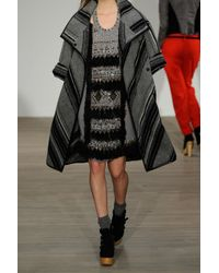 Matthew Williamson | Gray Appliquéd Wool-crepe Dress | Lyst