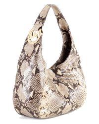MICHAEL Michael Kors | Multicolor Fulton Medium Shoulder Bag, Dark Sand | Lyst