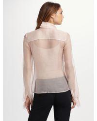 Oscar de la Renta White Pleated Bouclé-tweed Skirt