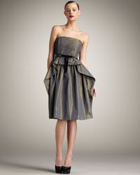 Robert Rodriguez | Gray Gracie Strapless Dress | Lyst