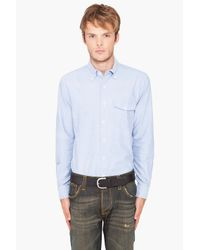 Shades of Grey by Micah Cohen - Blue Standard Button Down Shirt for Men - Lyst